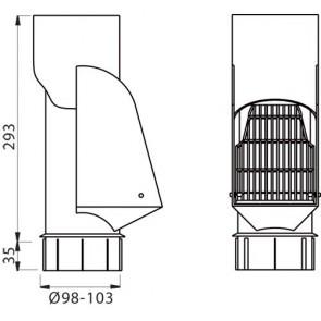 Self-cleaning leaf-trap SLS