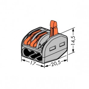 222 Wago Wire Connector 3-conductor