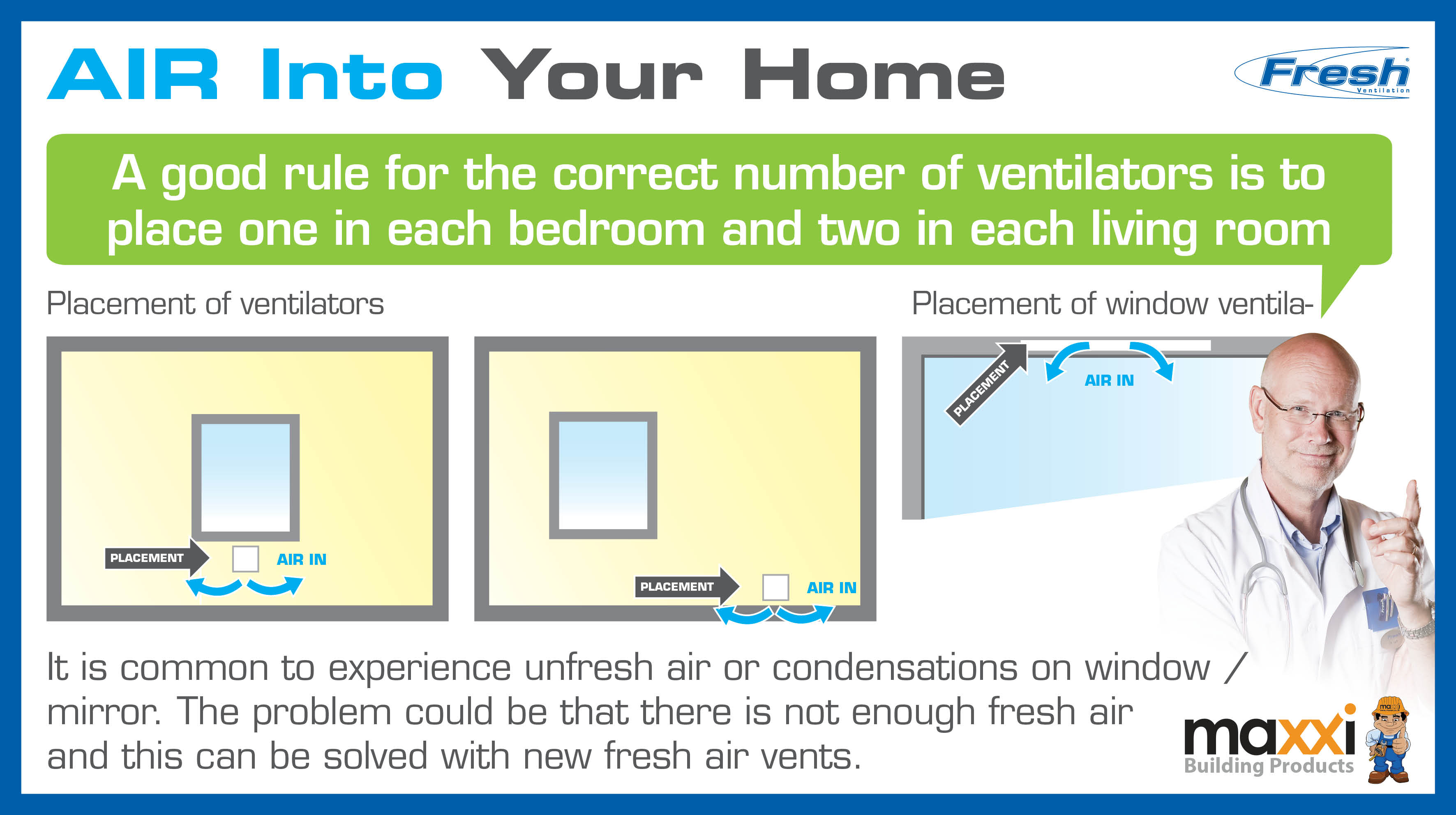 Ventilation Air Into your home